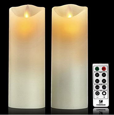 Battery Candles Flickering Flameless Candles Set Of 2 X 7 Battery